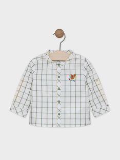 Baby boys' ecru shirt with yellow and teal check pattern SABARTH / 19H1BG21CHM001