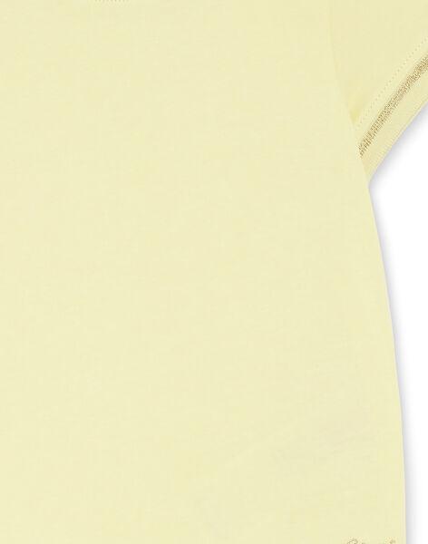 T-shirt jaune pale manches courtes et col rond enfant fille ZLINETTE 3 / 21E2PFK3TMC106