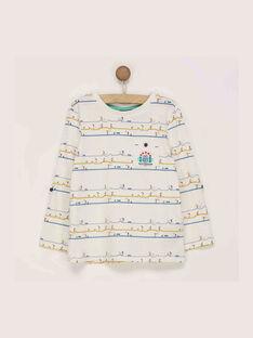 Tee shirt manches longues écru REDOUAGE / 19E3PGC1TML001