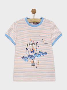 Tee shirt manches courtes blanc RUADOUAGE / 19E3PGP3TMC000