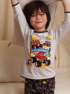 Pyjama gris en jersey   ZEBLOCAGE / 21E5PG12PYJ943