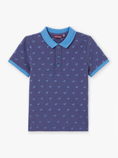 Polo bleu marine enfant garçon ZYPOLAGE3 / 21E3PGW3POL215