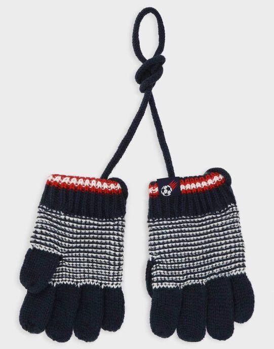 Gants marine en tricot fantaisie petit garçon TAGANTAGE / 20E4PGC1GAN070