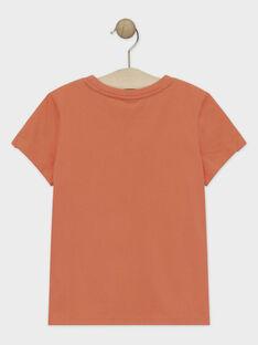 Tee-shirt manches courtes corail garçon  TIONAGE / 20E3PGP2TMC415
