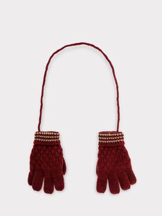 Dark burgundy Gloves SIVETTE / 19H4PF61GAN503