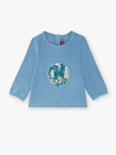 Tee-shirt manches longues bleu gris  VALAW / 20H1BGR1TML216