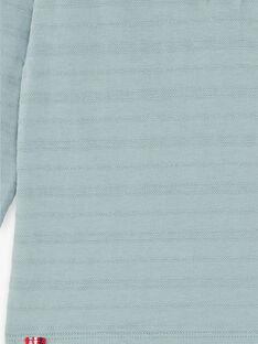 T-shirt vert de gris brodé col rond enfant garçon ZAXATAGE2 / 21E3PGK5TML631