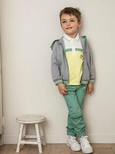 Pantalon jogger vert enfant garçon ZEILAGE / 21E3PGO1PAN631