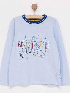 Tee shirt manches longues bleu ciel PALAGE / 18H3PG41TML020