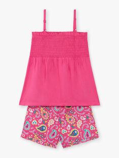 Pyjama short fushia petite fille  ZEJEDETTE / 21E5PF24PYJD317
