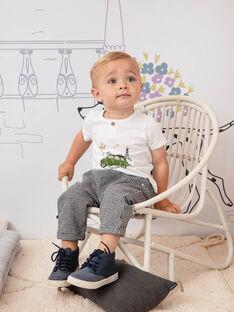 Pantalon noir et blanc à carreaux bébé garçon BADARIUS / 21H1BG21PAN090