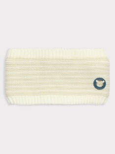 Snood beige point mousse bébé garçon TAALEX / 20E4BGB1SNO632