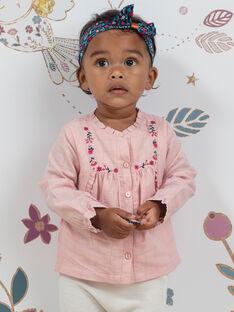 Ensemble chemisier à carreaux et legging en maille bébé fille BAGULIE / 21H1BF91ENSD329