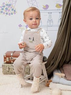 Salopette beige à imprimé fantaisie bébé garçon BADARWIN / 21H1BG21SALA013