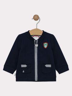 Gilet bébé garçon bleu marine  TALUCIEN / 20E1BGH2GIL070