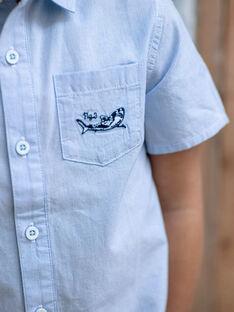 Chemise rayée bleue enfant garçon ZITOTAGE / 21E3PGT1CHM000