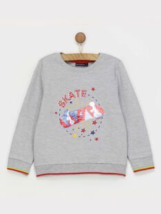 Sweat shirt gris chiné REAGE / 19E3PGC4SWE943