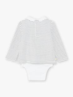 Body tee-shirt à col rayé ZACOBI / 21E1BG91BOD001