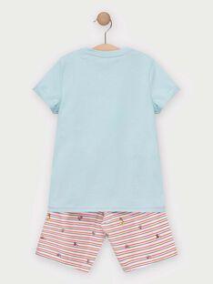 Pyjama short petit garçon TEALIAGE / 20E5PGE1PYJC219
