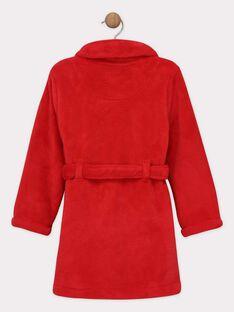 Robe de chambre en fausse fourrure rouge petit garçon SOROBAGE / 19H5PGQ1RDC511